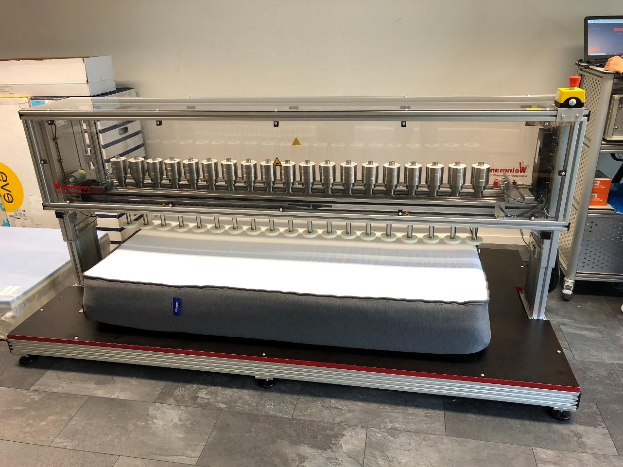 maquina empleada en la prueba zonificación